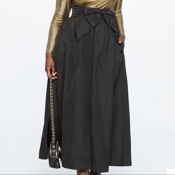 Eloquii Dresses & Skirts - Black Taffeta Ball Gown Maxi Skirt 18W
